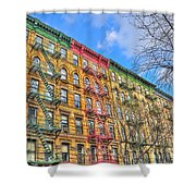 East Village Buildings On East Fourth Street And Bowery Shower Curtain
