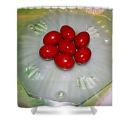 Easter And Red Eggs Shower Curtain
