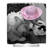 Easter Angel Two Shower Curtain