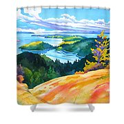 Easter Bluff View Shower Curtain