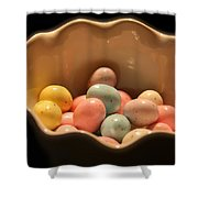 Easter Candy Malted Milk Balls I Shower Curtain
