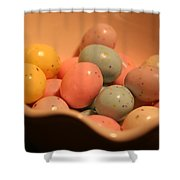 Easter Candy Malted Milk Balls II Shower Curtain