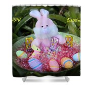 Easter Card Shower Curtain
