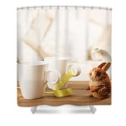 Easter Drinks Shower Curtain