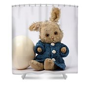 Easter Egg And Bunny Shower Curtain