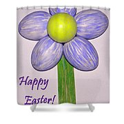 Easter Egg Flower Shower Curtain