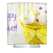 Easter Eggs In Basket Shower Curtain