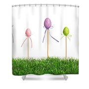 Easter Eggs In Grass Shower Curtain