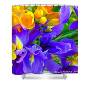Easter Flowers Shower Curtain