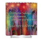 Easter Inspiring Digital Painting Shower Curtain