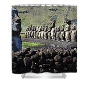 Easter Island 4 Shower Curtain