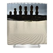 Easter Island 9 Shower Curtain