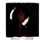 Easter Island Fire Dance Shower Curtain