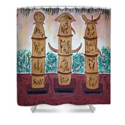 Easter Island Poles Shower Curtain