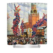 Easter Market At The Moscow Kremlin Shower Curtain