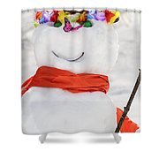 Easter Snowman Shower Curtain