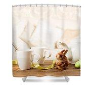 Easter Tea Break Shower Curtain