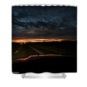 Eastern Drive  Shower Curtain