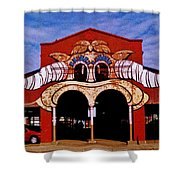 Eastern Market Painted Barn Shower Curtain