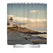 Eastern Point Lighthouse Shower Curtain