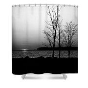 Eastern Shore Sunset Shower Curtain