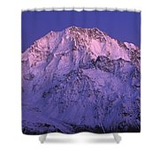 Eastern Side Of Mt Cook Pre-dawn Shower Curtain