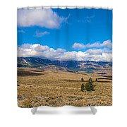 Eastern Sierras 25 Pano Shower Curtain