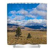 Eastern Sierras 28 Pano Shower Curtain