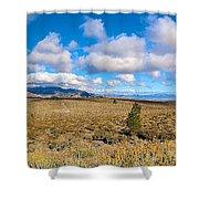 Eastern Sierras 29 Pano Shower Curtain