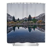 Eastern Sierras Reflection Shower Curtain