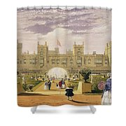 Eastern View Of The Castle And Garden Shower Curtain