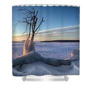 Eastern Wind Shower Curtain