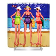Eat At Joes - Beach Gossip Shower Curtain