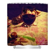 Eat Drink And Be Merry Shower Curtain