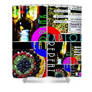 Eat Drink Explore Repeat 20140713 Horizontal Shower Curtain