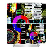 Eat Drink Explore Repeat 20140713 Vertical Shower Curtain