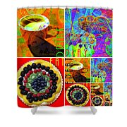 Eat Drink Play Repeat 20140705 Shower Curtain