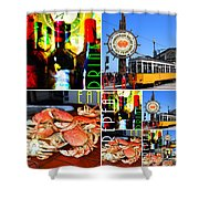 Eat Drink Play Repeat 20140713 San Francisco Shower Curtain