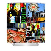Eat Drink Play Repeat San Francisco 20140713 Horizontal Shower Curtain