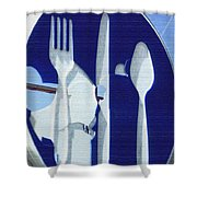 EAT Shower Curtain