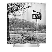 Eat Here Shower Curtain