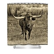Eat Leaf Not Beef Sepia Shower Curtain