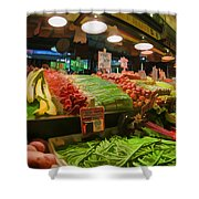Eat Your Fruits And Vegetables Shower Curtain