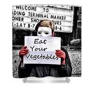 Eat Your Vegetables Shower Curtain