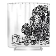 Eater 3 Shower Curtain