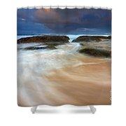 Ebb Tide Sunrise Shower Curtain