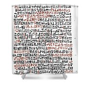 Ebers Papyrus, C1550 B.c Shower Curtain