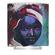 Ebony Women Shower Curtain