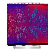 Echo Echo Echo Shower Curtain by Tim Allen