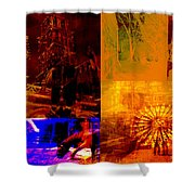 Eclectic Things Collage Shower Curtain